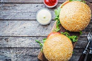Fresh homemade burger