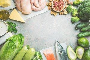 Ketogenic diet concept