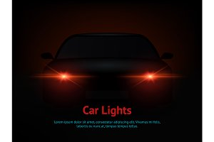 Car Lights Effect from Darkness