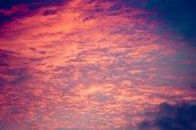 Retro sunset sky background