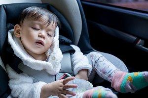Baby sleep in car seat