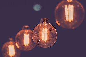 Edison light bulb decor