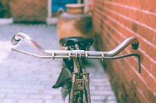 Vintage bicycle close up by  in Transportation