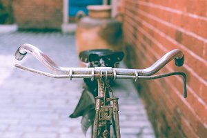 Vintage bicycle close up