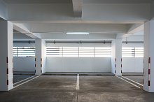 Empty car parking in building by  in Transportation