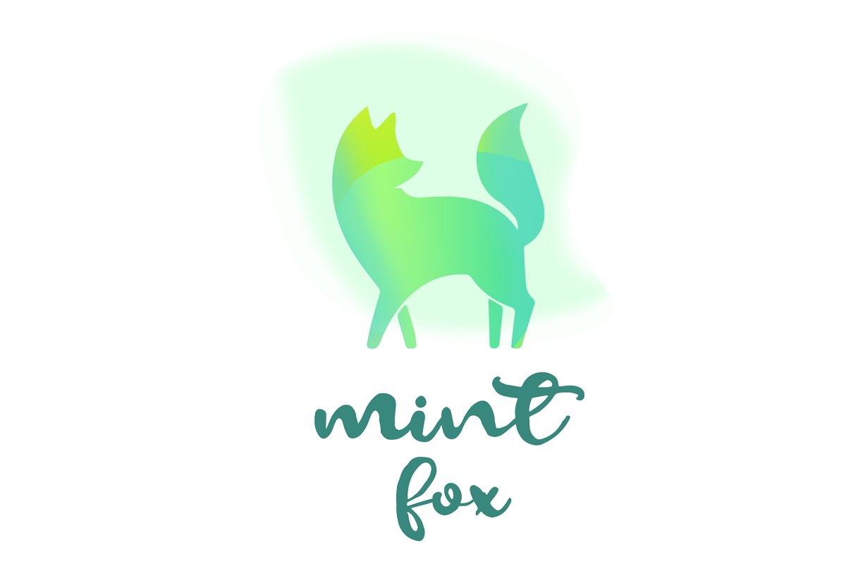 Fox logo animal pet