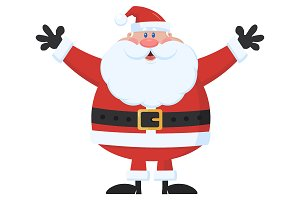 Santa Claus Holding Up His Arms