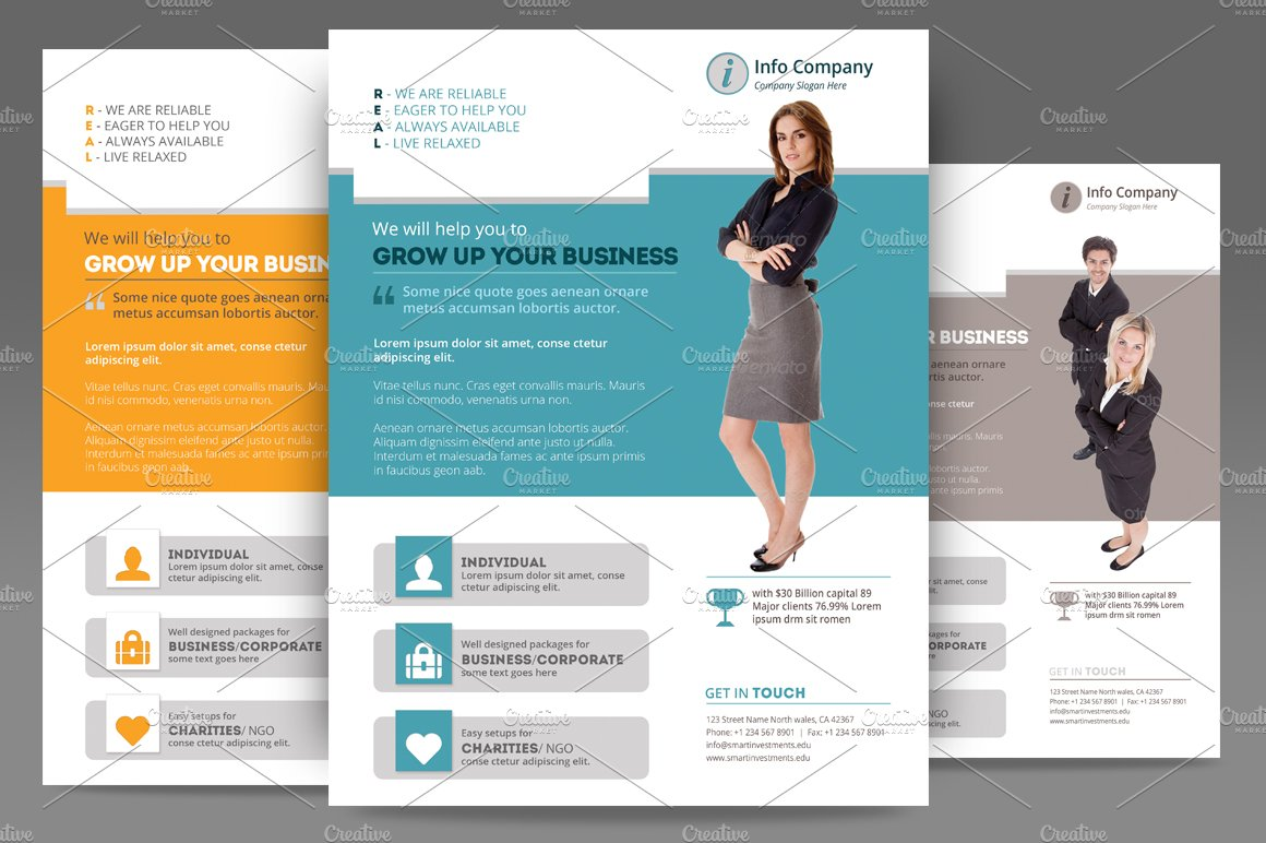 Corporate Flyer Or Poster Templates Flyer Templates Creative Market