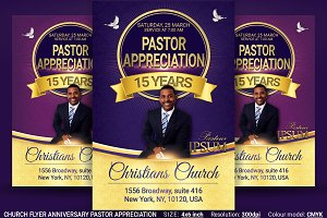Church Flyer Anniversary