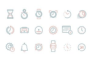 Time icon. Calendar clock watch fast