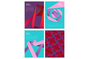 Abstract magazine covers. Modern