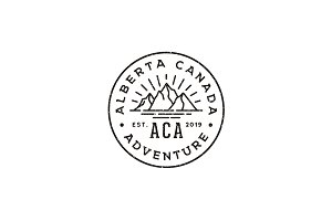 Retro Rustic Adventure Stamp Logo