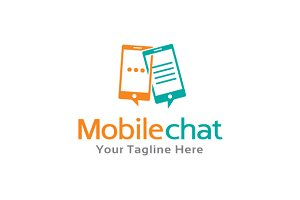 Mobile Chat Talk Logo Template
