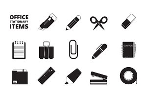 Office equipment icon. Stationary