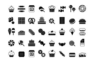 Black icon of sweets. Candies