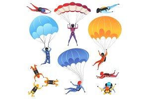 Extreme parachute sport. Adrenaline