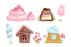 Sweet objects. Caramel chocolate