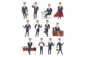 Poses business characters
