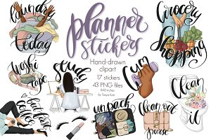 Planner Stickers Clipart Icons Kit