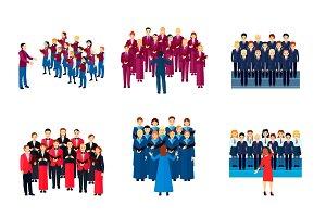 Choir musical ensembles icons