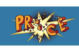 price word. season of sales