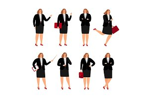 Businesswoman poses collection