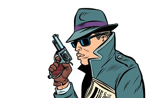 gun spy, secret agent