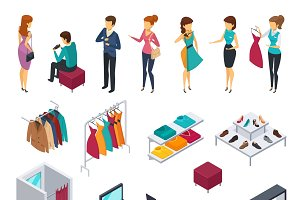 Trying shop isometric people icons