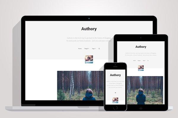 Tumblr Themes: CubThemes - Authory - Basic Tumblr Theme
