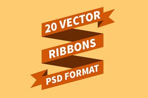 20 PSD Vector Ribbons