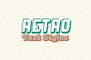 Photoshop Retro Text Styles