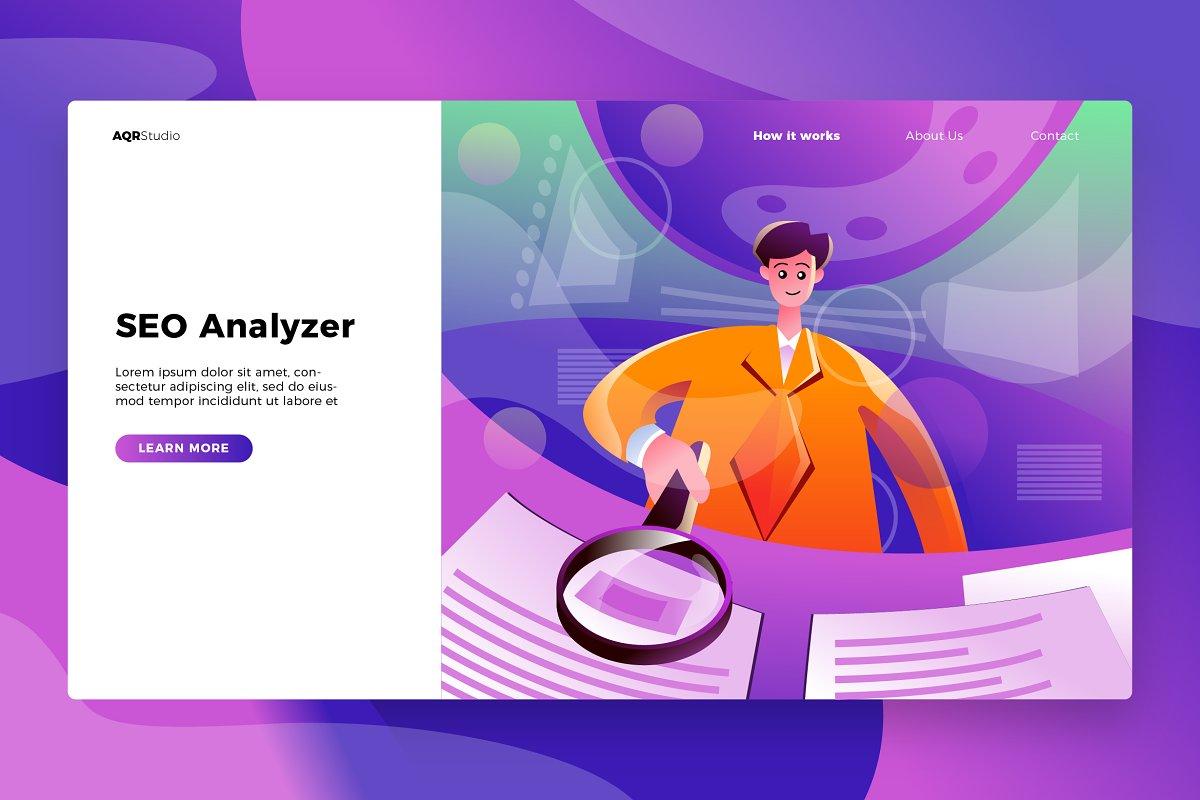 SEO Analyzer - Banner & Landing Page