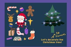 Christmas illustration Bundle-20imgs