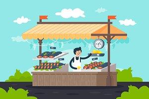 Street fish stall