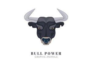 Vector angry bull