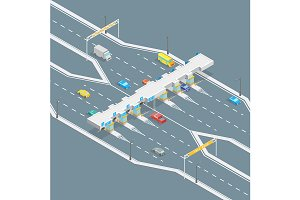 Toll Road Payment Concept 3d