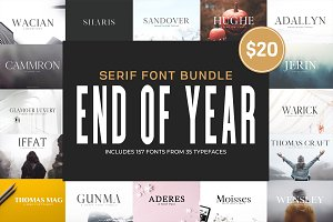New Year SALE! - Serif Bundle!