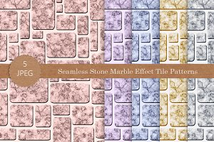 Seamless Stone Marble Effect Pattern