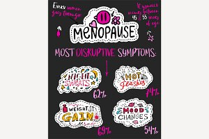 Menopause Hand Drawn Infographic