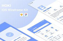Hoki Mobile Wireframe Kit