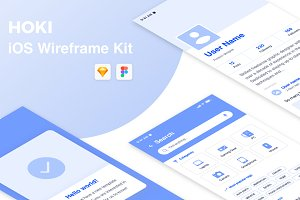 Hoki Mobile Wireframe Kit