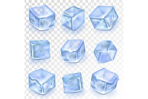 Ice Cubes Isolated Transpatrent