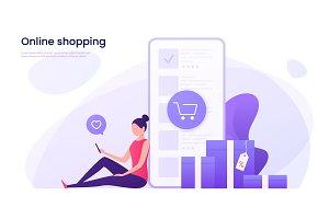 Online shopping, mobile marketing
