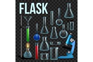 Laboratory Flask Set Vector