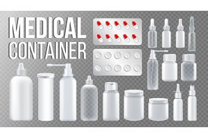 Medical Container Vector. Spray