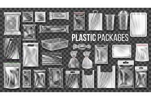 Plastic Packages Transparent Wrap