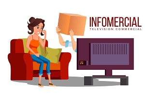 Infomercial, Shop On The Sofa, Woman