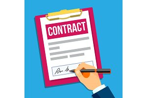 Hands Of Man Signing A Contract Top