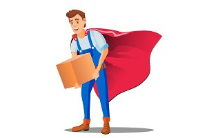 Delivery Service, Man In Superhero