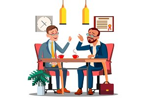 Business Meeting With Partner At The